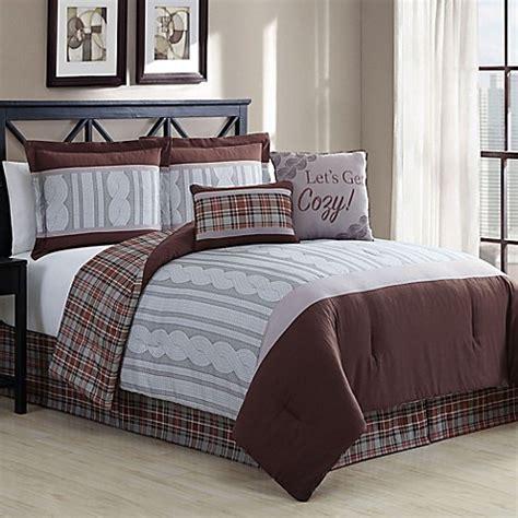 telluride 6 reversible comforter in brown bed