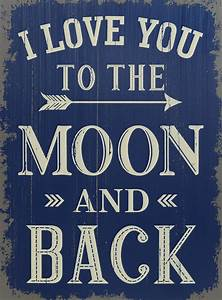 """I Love You to the Moon and Back 19"""" Sign SaveOnCrafts"""