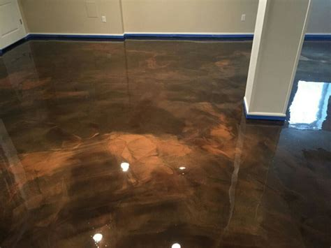 epoxy flooring michigan south lyon mi mocha and copper metallic epoxy yelp