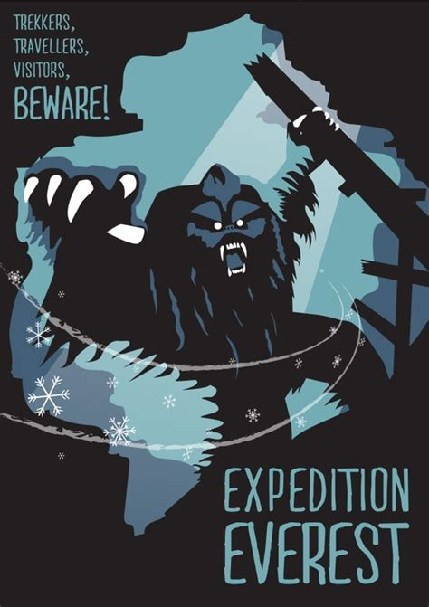 expedition everest attraction poster art print  rob yeo