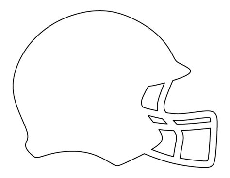 football template printable football helmet pattern use the printable outline for crafts creating stencils scrapbooking