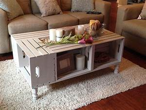 wine crate coffee table diy furniture pinterest wine With crate style coffee table