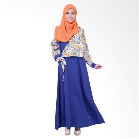 Harga Gamis Merk Nibras jual nibras nb 146 gamis busana baju muslim blue