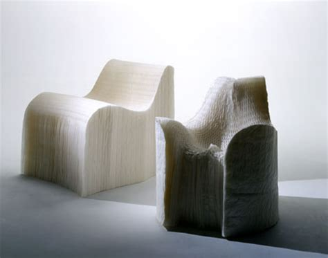 unusual furniture materials crystal chairs  paper sofas