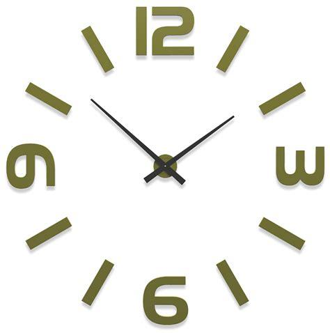 pendule cuisine design grosse horloge murale donatello