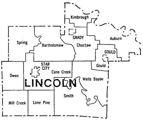 Lincoln County, Arkansas Township Map And Boundaries