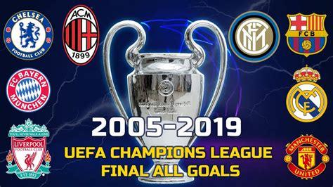 2005-2019 UEFA Champions League Final All Goals - YouTube