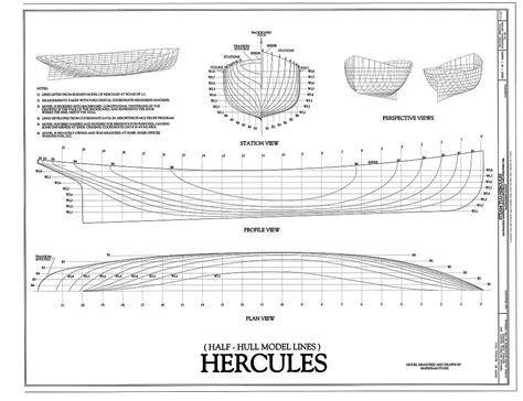 How To Draw Model Boat Plans by Steam Tug Hercules The Model Shipwright