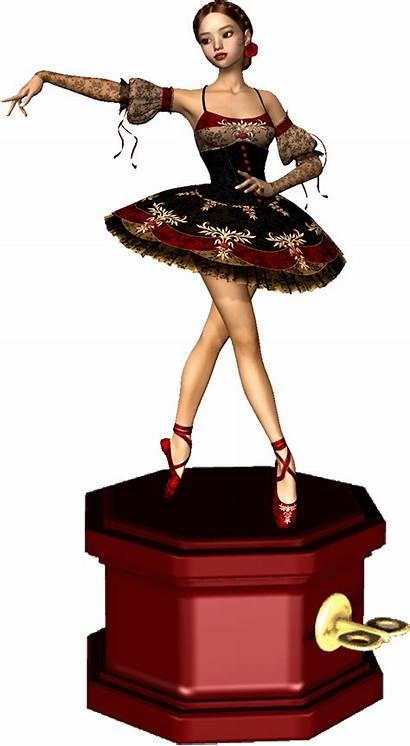 Ballerina Ballet Box Boxes Spanish Clip Clipart