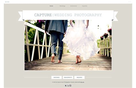 wix website features  photographers