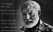 Quotes from Ernest Hemingway About Writing