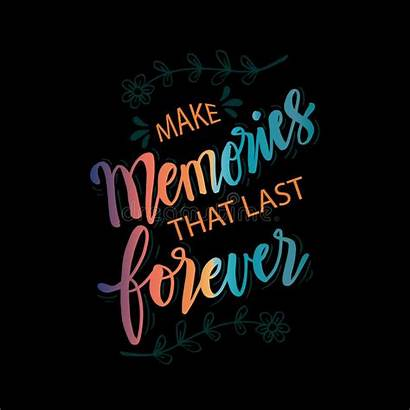 Memories Forever Last Quote Illustration Vector Background
