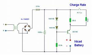 Simple Nicad Battery Charger Circuit Diagram