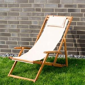 liegestuhl relaxliege garten sonnenliege strandliege holz With französischer balkon mit garten relaxliege