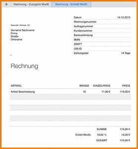 Rechnung Quittung : 14 rechnung mit mwst vorlage the natural curriculum ~ Themetempest.com Abrechnung