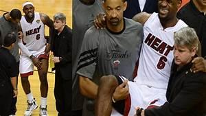 Lebron James Cramped Game| Game 1 Miami Vs Spurs| June 05 ...