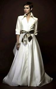 shirtwaist wedding dresses are trending now crazyforus With shirt wedding dress