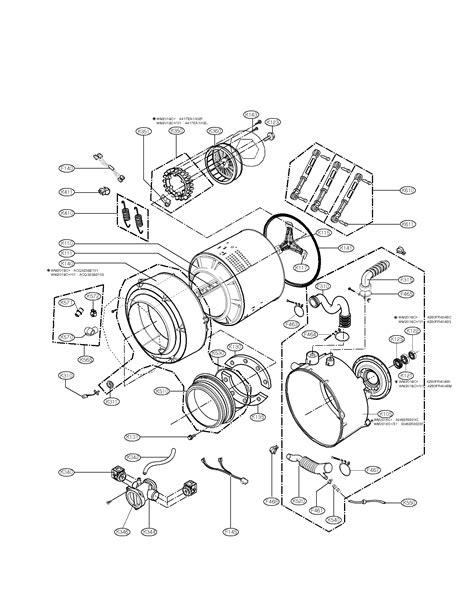 drum  tub assembly parts diagram parts list  model