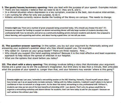 sample speech examples