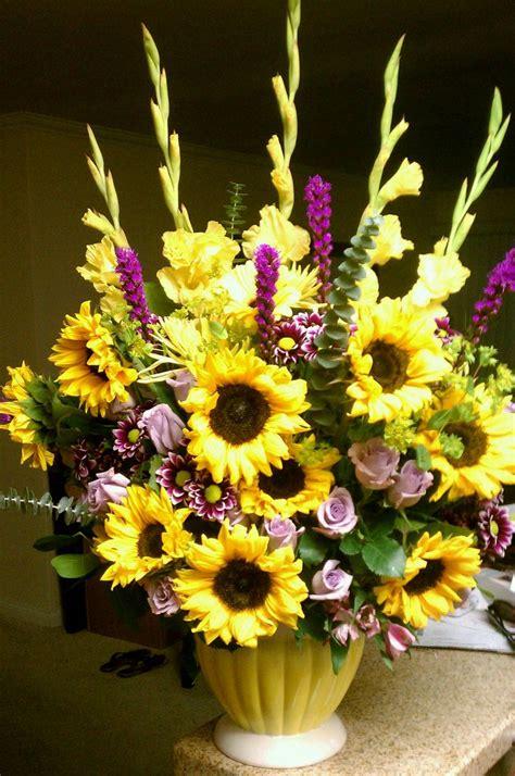 sunflower arrangement designs sunflower arrangement floral arrangements i ve made pinterest