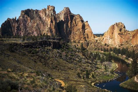 Hiking Smith Rock Near Bend, Or  Tea First