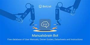Manualsbrain Bot Bot On Telegram Chatbot On Botlist