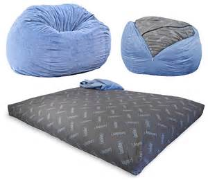 a size bed that pulls out of a bean bag chair home