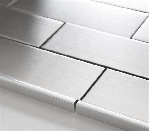 porcelain bathroom tile ideas stainless steel metal pencil border edge trim