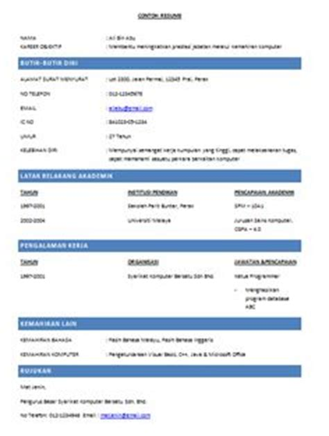 1000 images about contoh resume on resume and itu