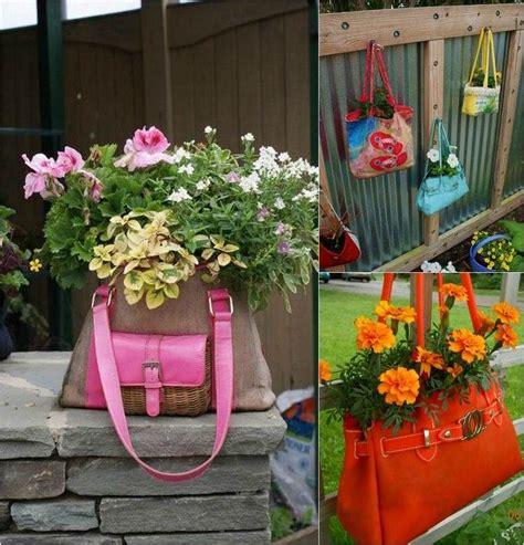 Topfpflanzen Für Den Garten by Alte Handtaschen Werden Zu Neuen Pflanzgef 228 223 En Garden