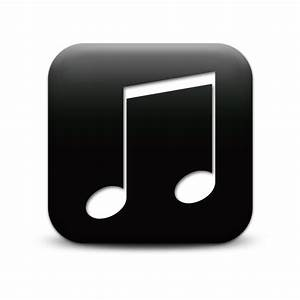 19 White Music Note Icon Images - Black and White Musical ...