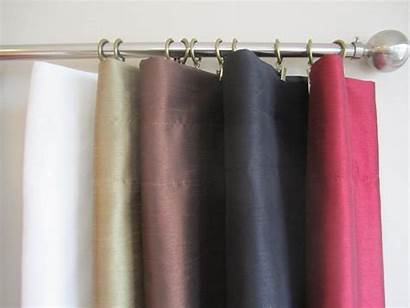 Panels Drapery Curtain Silk Lining Faux Pair