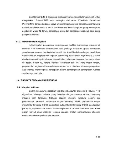 Laporan Akhir EKPD 2009 NTB - UNRAM
