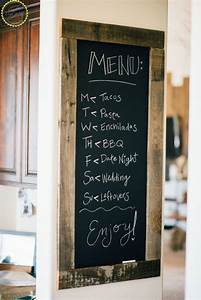 Kitchen chalkboard menu zest it up for Kitchen colors with white cabinets with funny wall art quotes
