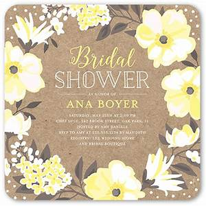 beautiful bouquet 5x5 stationery bridal shower invitations With shutterfly wedding shower invitations