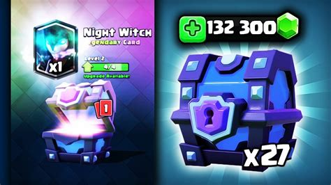 witch level 3 132 300 gem 211 w 27xsuper magical chest clash royale polska