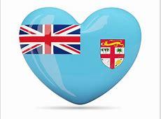Heart icon Illustration of flag of Fiji