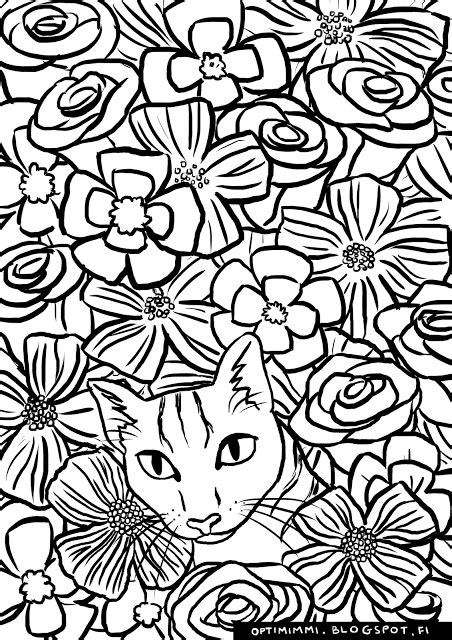 cat  image   printed   coloring page