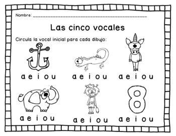 las vocales actividades y hojas de tarea by made for teaching 1st