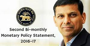 Second Bi-monthly Monetary Policy Statement, 2016-17 ...