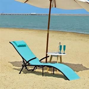 Transat De Plage : transat banc bain de soleil plage chaise longue bleu ~ Dode.kayakingforconservation.com Idées de Décoration