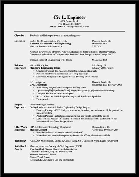 best cv sles for civil engineer resume template