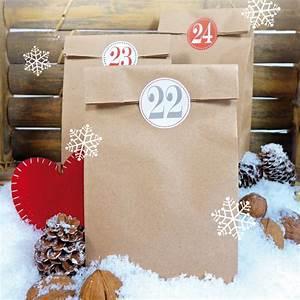 Adventskalender Säckchen Kaufen : adventskalender selber machen bastelset kraftpapier weihnachtliche kleinigkeiten ~ Orissabook.com Haus und Dekorationen