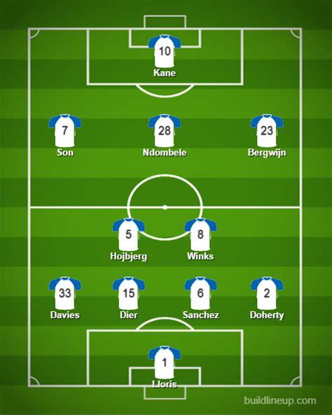 Predicted Tottenham Hotspur Lineup Vs Everton - The 4th ...