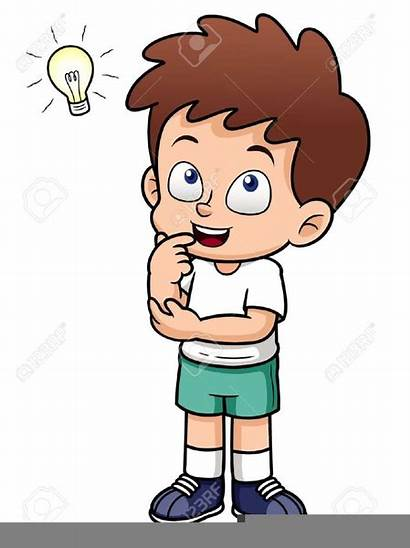 Thinking Clipart Boy Child Clip Cliparts Clker