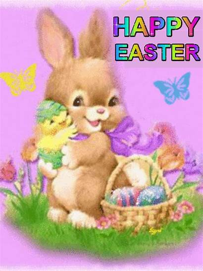 Easter Bunny Chick Hugging Happy Quotes Lovethispic