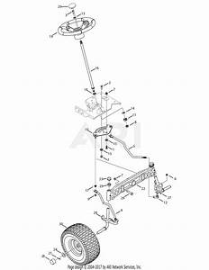 Mtd 14aa815k004  2008  Parts Diagram For Steering Assembly