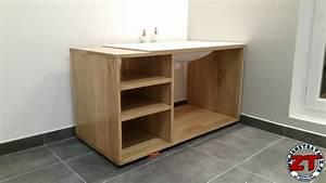 tuto fabriquer un meuble vasque de salle de bain With construire meuble de salle de bain