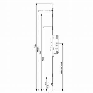 Changer Serrure 3 Points Encastrable : serrure 3 points fermeture automatique axe 40 mm gu ~ Premium-room.com Idées de Décoration