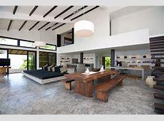 Minimalsit Open Plan Living Space Design Villa Interior